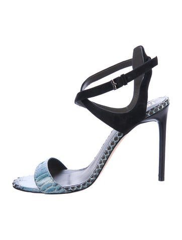 Reed Krakoff Leather Embossed Sandals cost cheap price collections cheap price free shipping find great Gd1Y8M05i