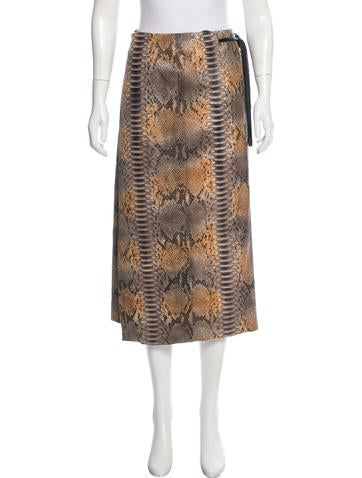 Reed Krakoff Snakeskin Wrap Skirt None