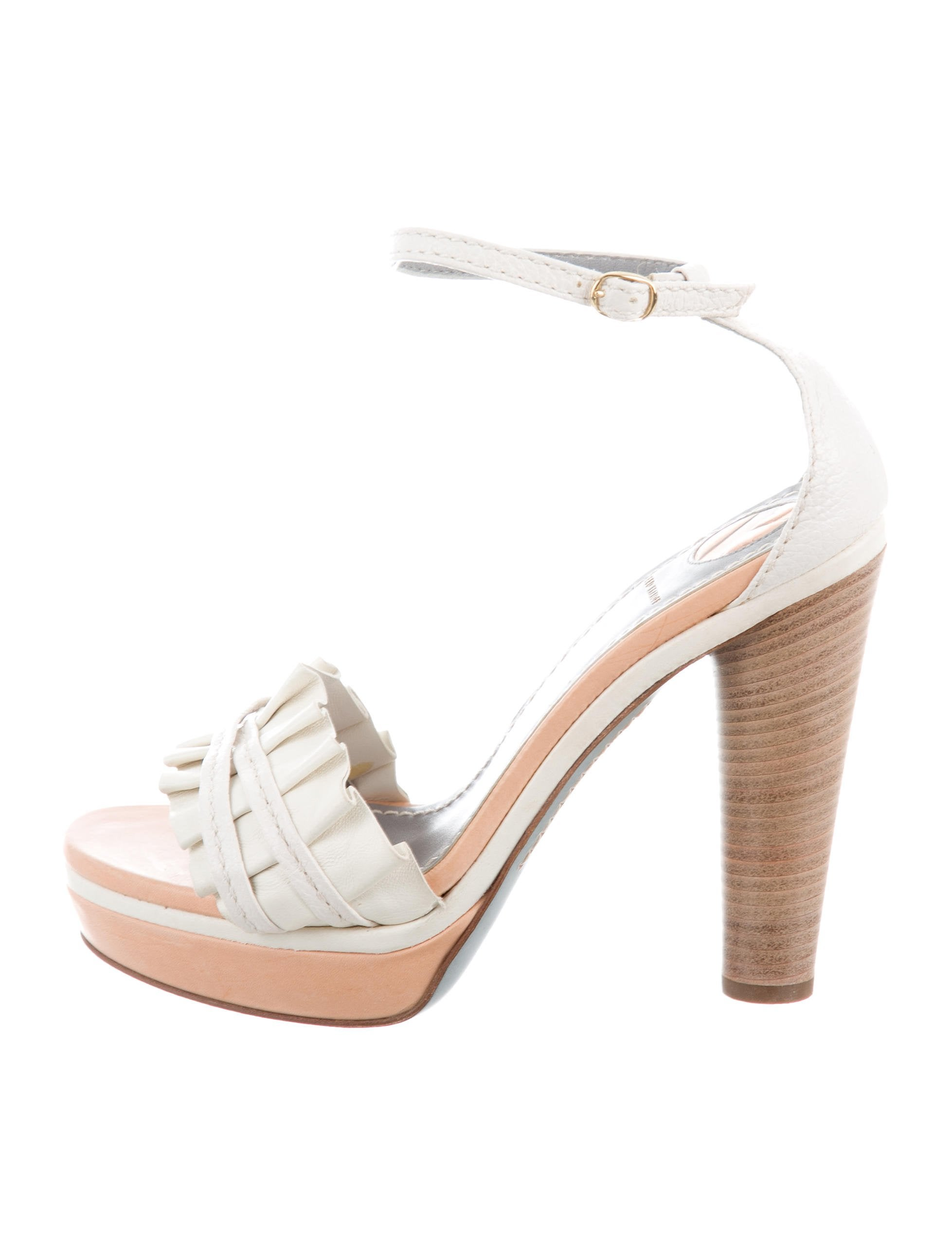 cheap price wholesale pay with visa sale online Reed Krakoff Metallic Platform Sandals mcbqoG