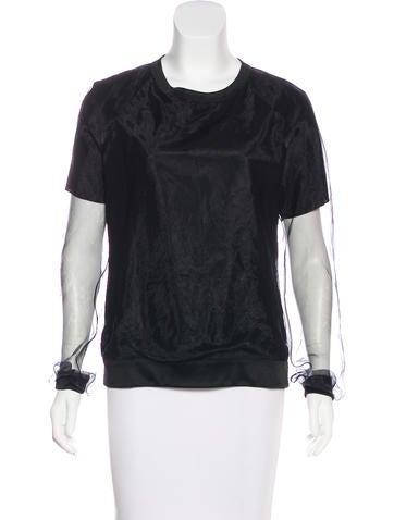 Reed Krakoff Long Sleeve Silk Top None