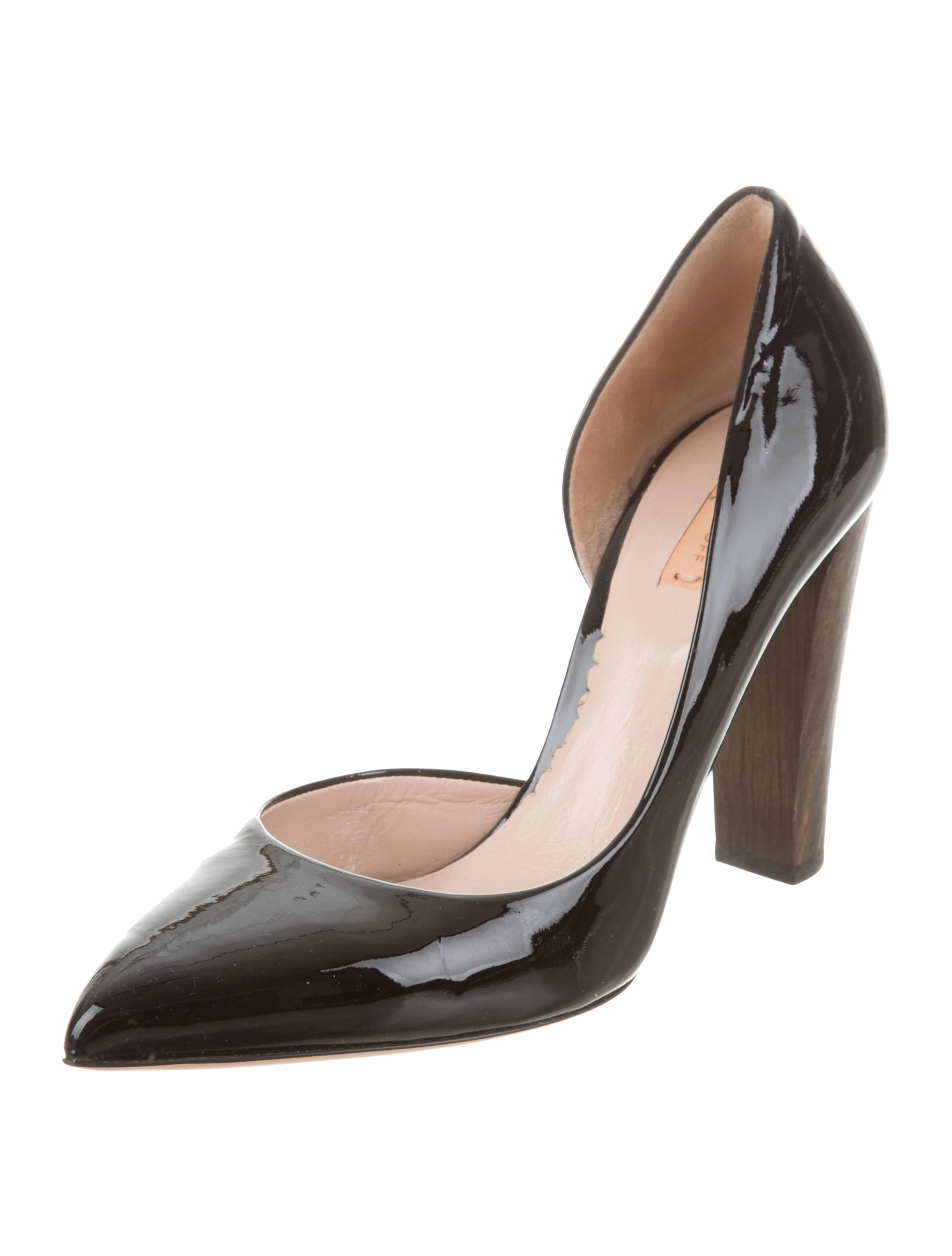 Reed Krakoff Leather Pointed-Toe Pumps