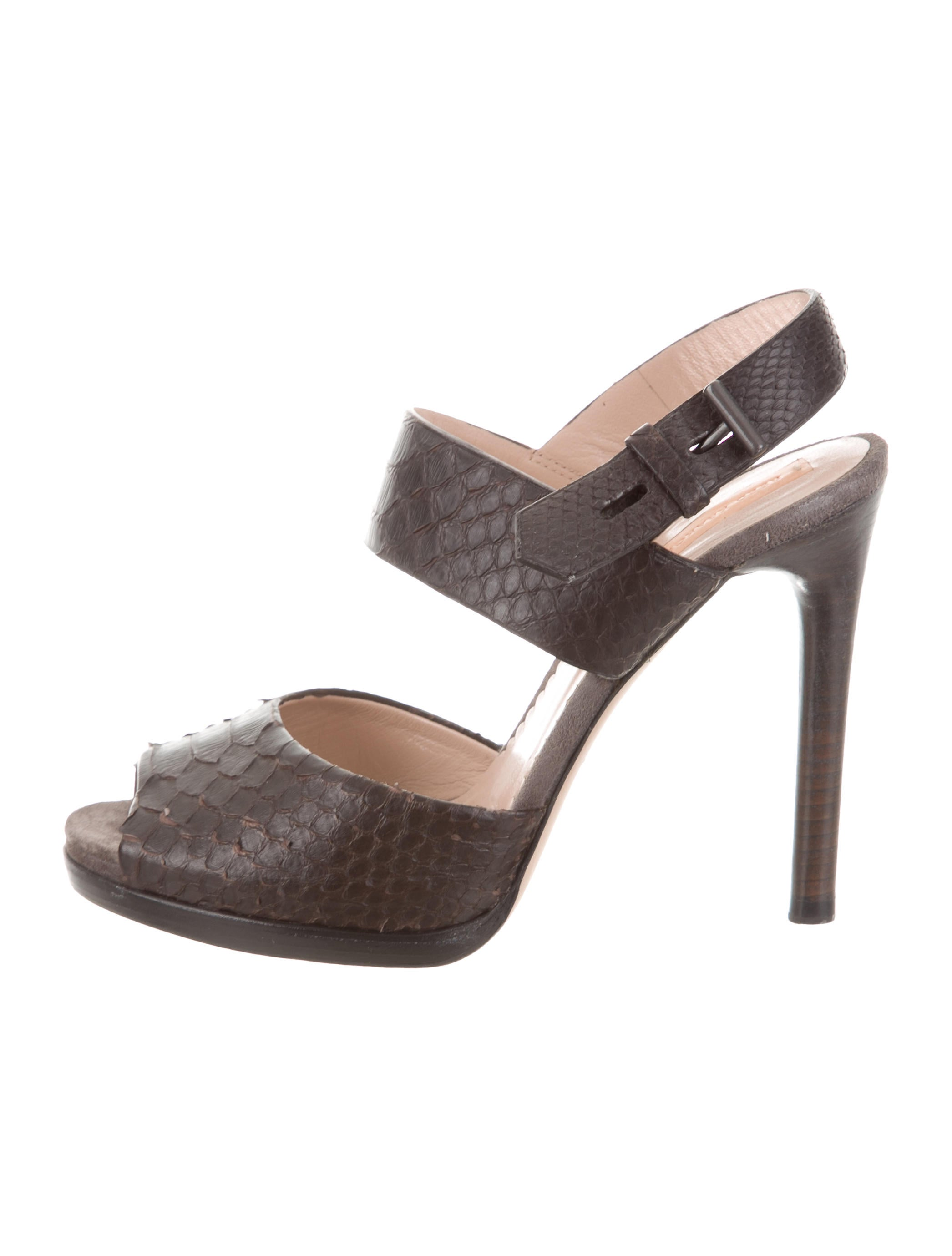 outlet Inexpensive Reed Krakoff Python Ankle-Strap Sandals buy cheap low shipping fee clearance get to buy BNWnqv7vn
