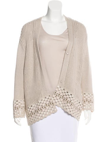 Rena Lange Rib Knit Cardigan Set None