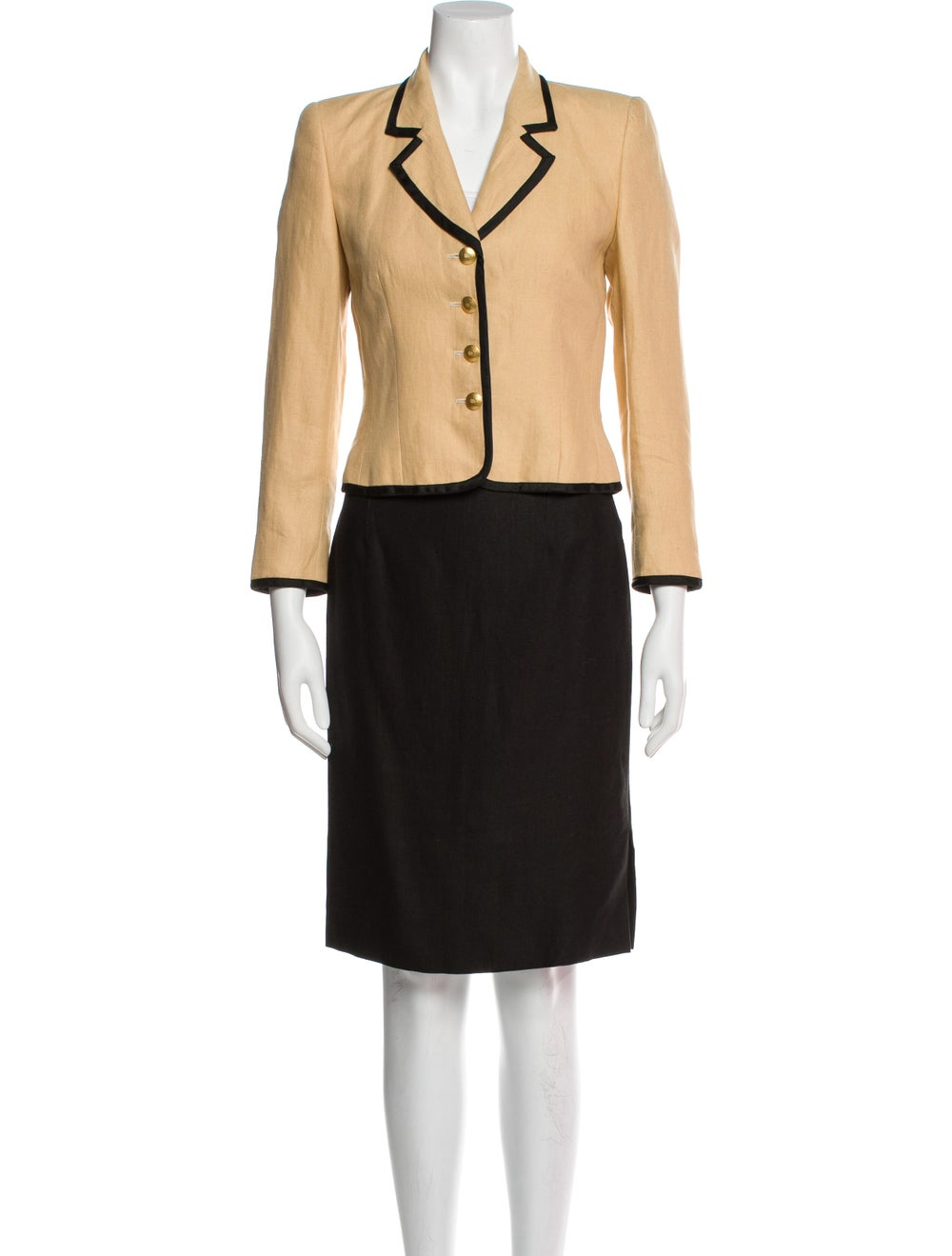 Rena Lange Vintage Linen Skirt Suit - image 1