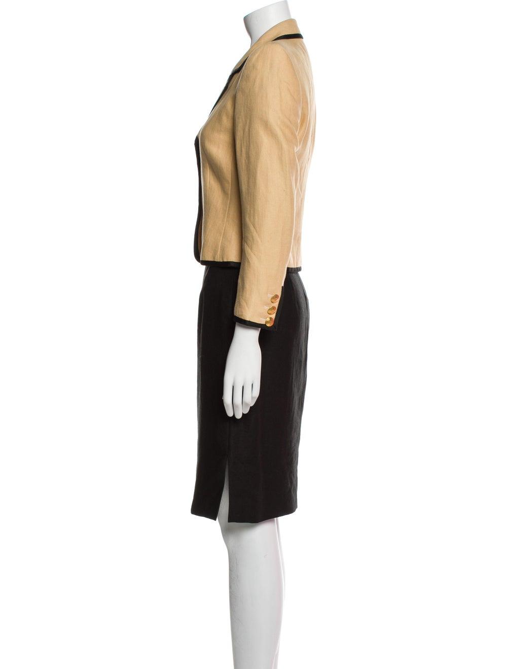 Rena Lange Vintage Linen Skirt Suit - image 2