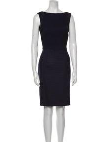 Rena Lange Wool Knee-Length Dress