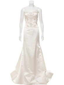 6ea5a43054 Reem Acra. Embellished Wedding Gown