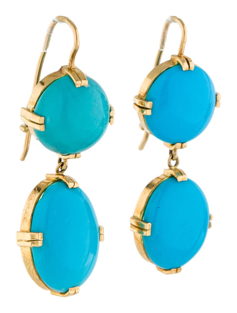 10 Kitchen And Home Decor Items Every 20 Something Needs: Renee Lewis Turquoise Double Drop Earrings