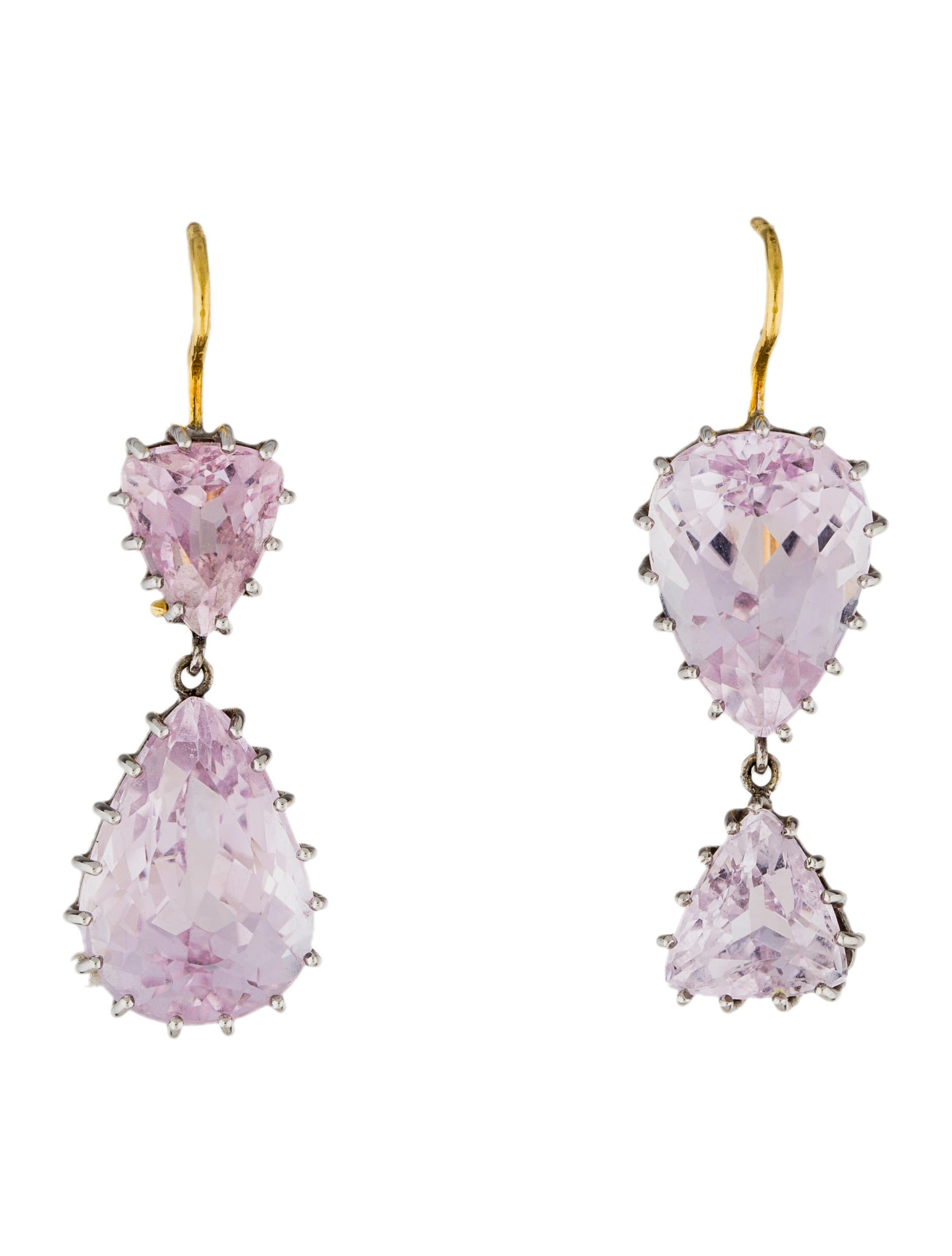 jewelry enlarged products drop earrings clip kunzite and on diamond