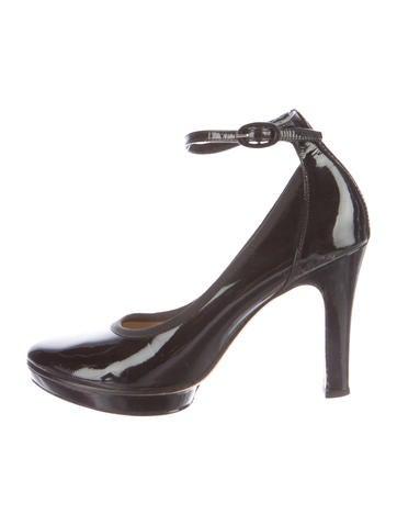 Repetto Patent Leather Ankle-Strap Pumps None