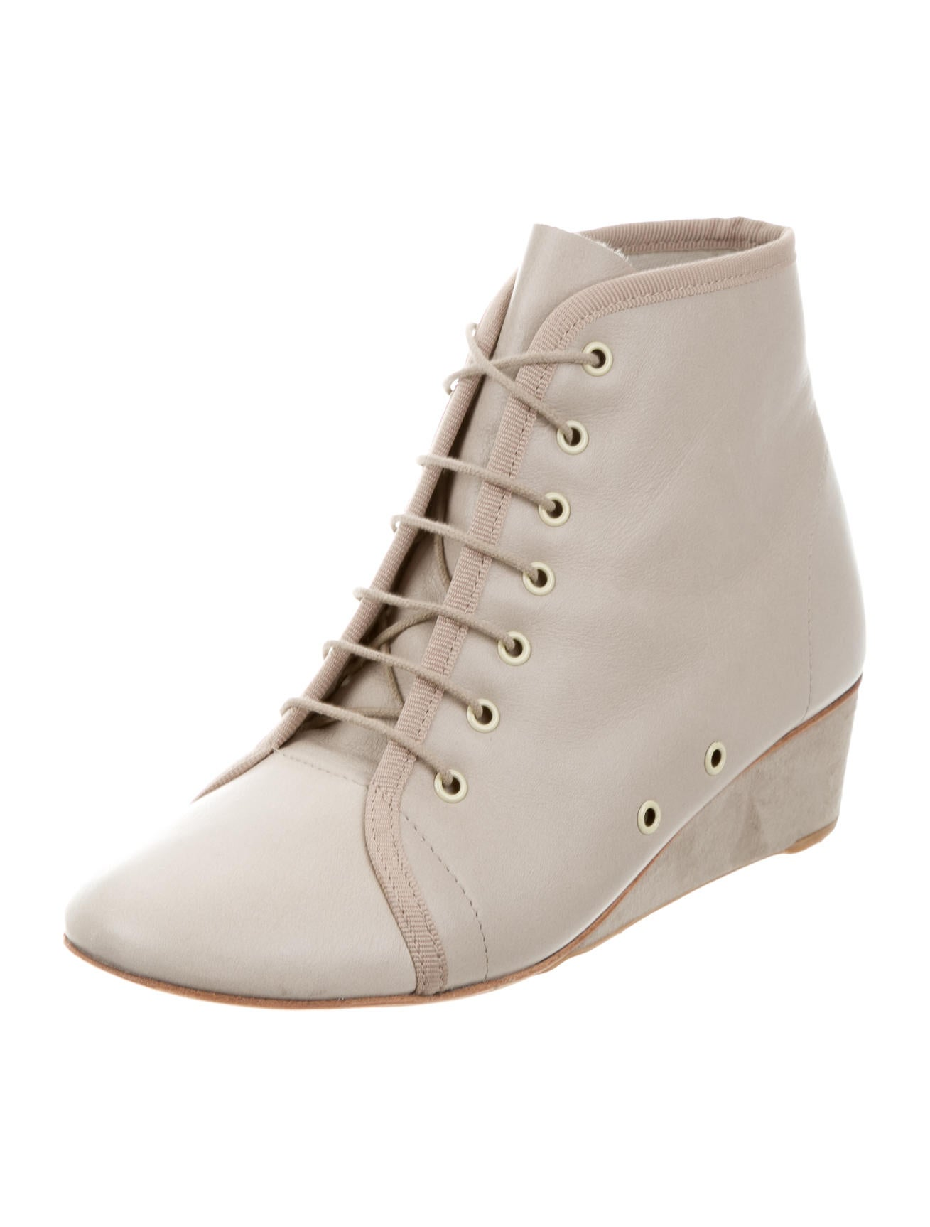repetto lace up wedge booties shoes rep21320 the
