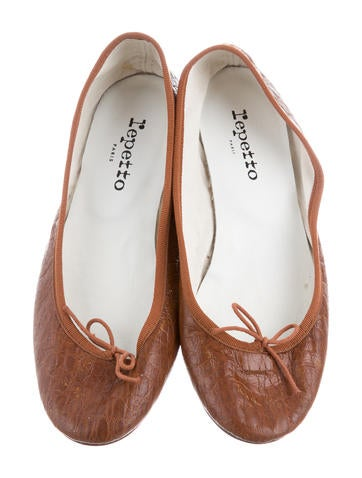 outlet best store to get Repetto Embossed Round-Toe Flats genuine for sale discount 2014 newest cheap sale websites sale sast PYVLMJi