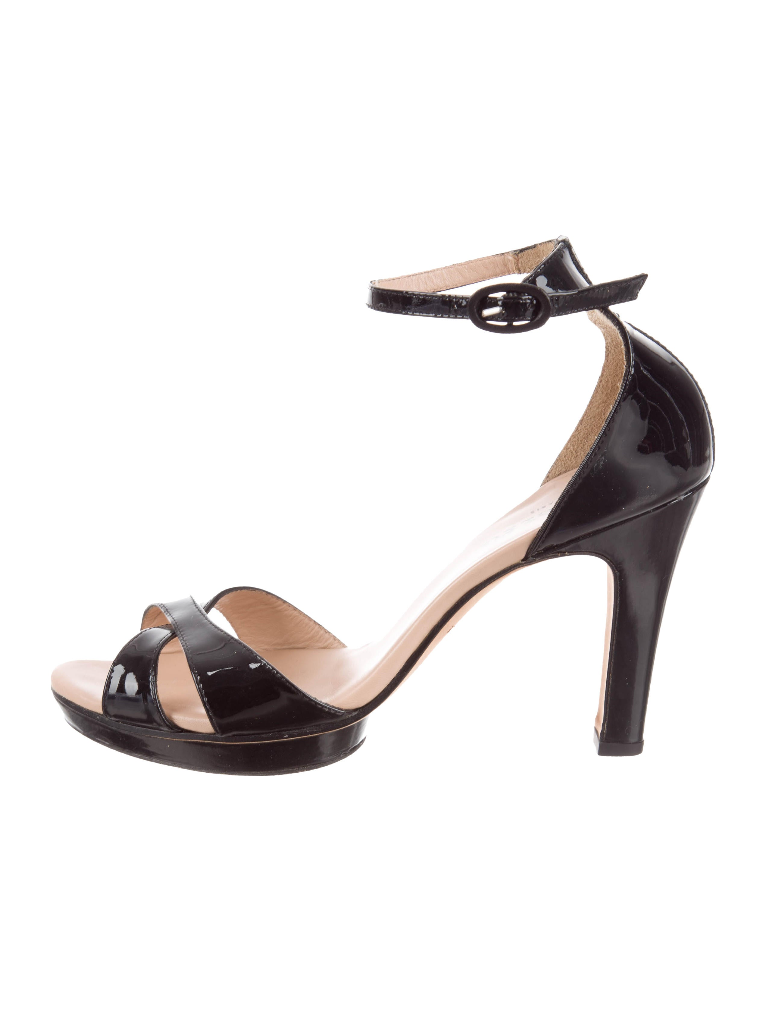 Repetto Patent Leather Crossover Sandals