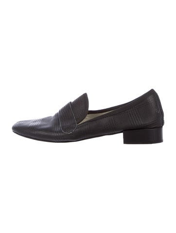 Repetto Leather Round-Toe Loafers cheap amazon J5LTWEHX5