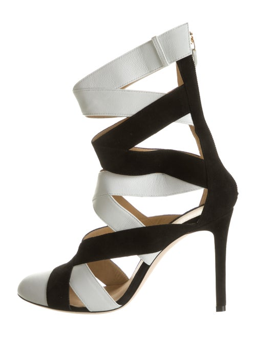 Repetto Leather Caged Pumps White