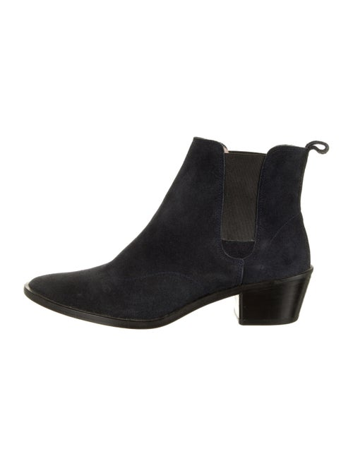 Repetto Suede Chelsea Boots Blue - image 1