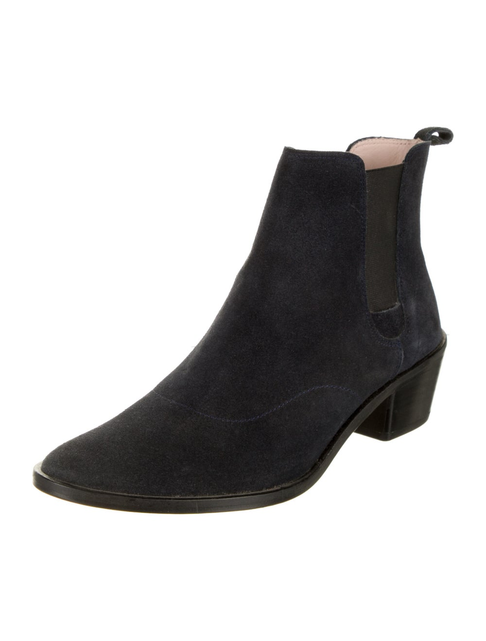 Repetto Suede Chelsea Boots Blue - image 2