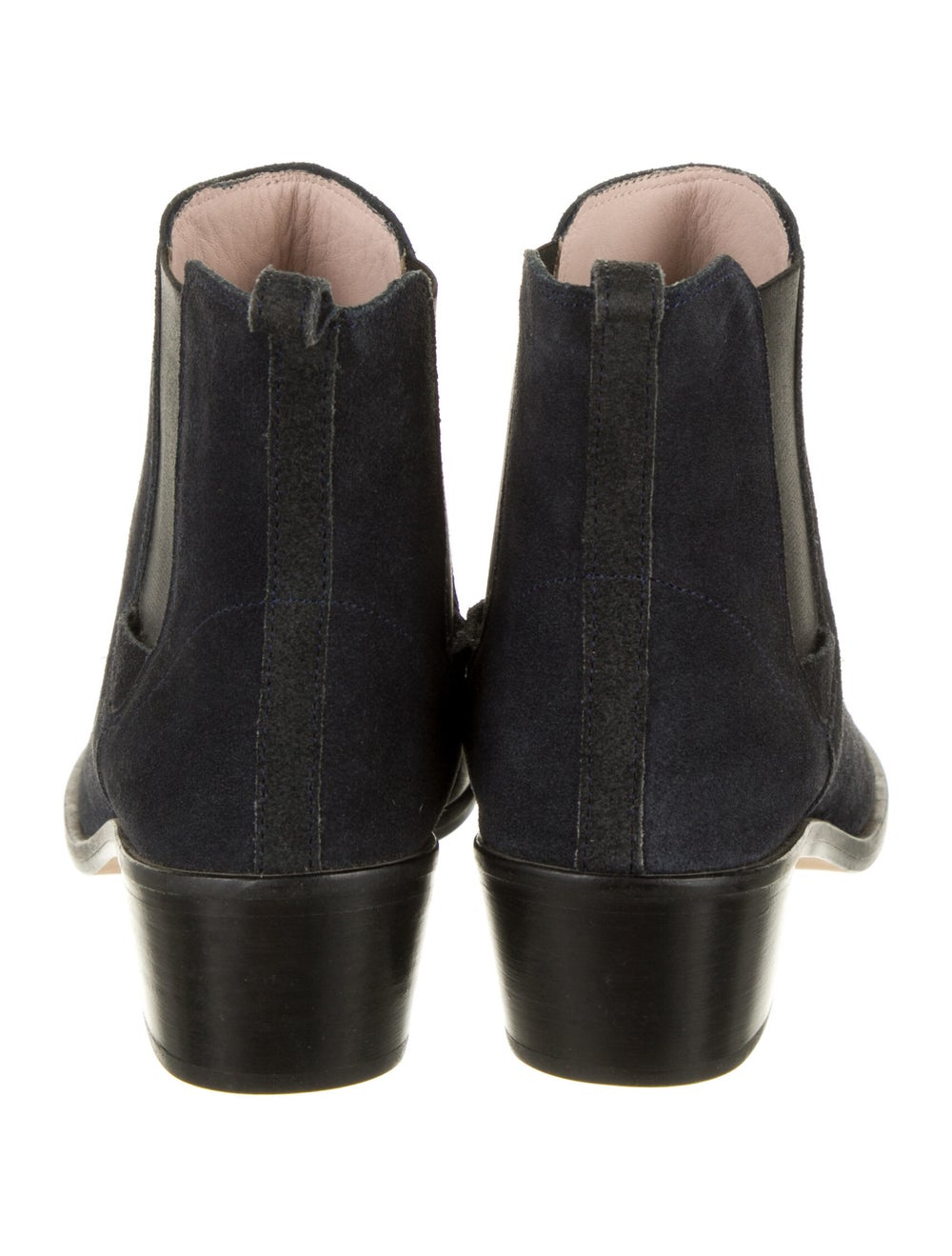 Repetto Suede Chelsea Boots Blue - image 4
