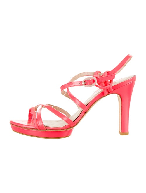 Repetto Leather Slingback Sandals Pink