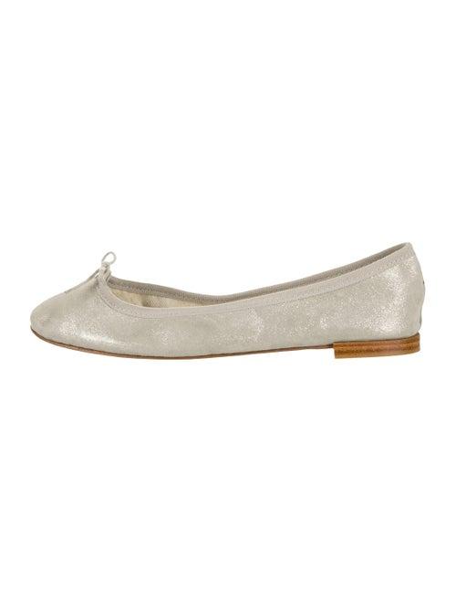 Repetto Suede Ballet Flats Metallic