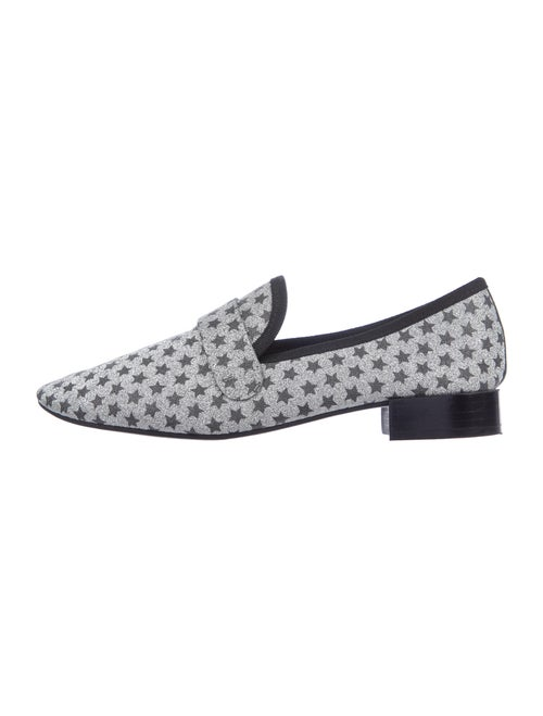 Repetto Printed Loafers Silver