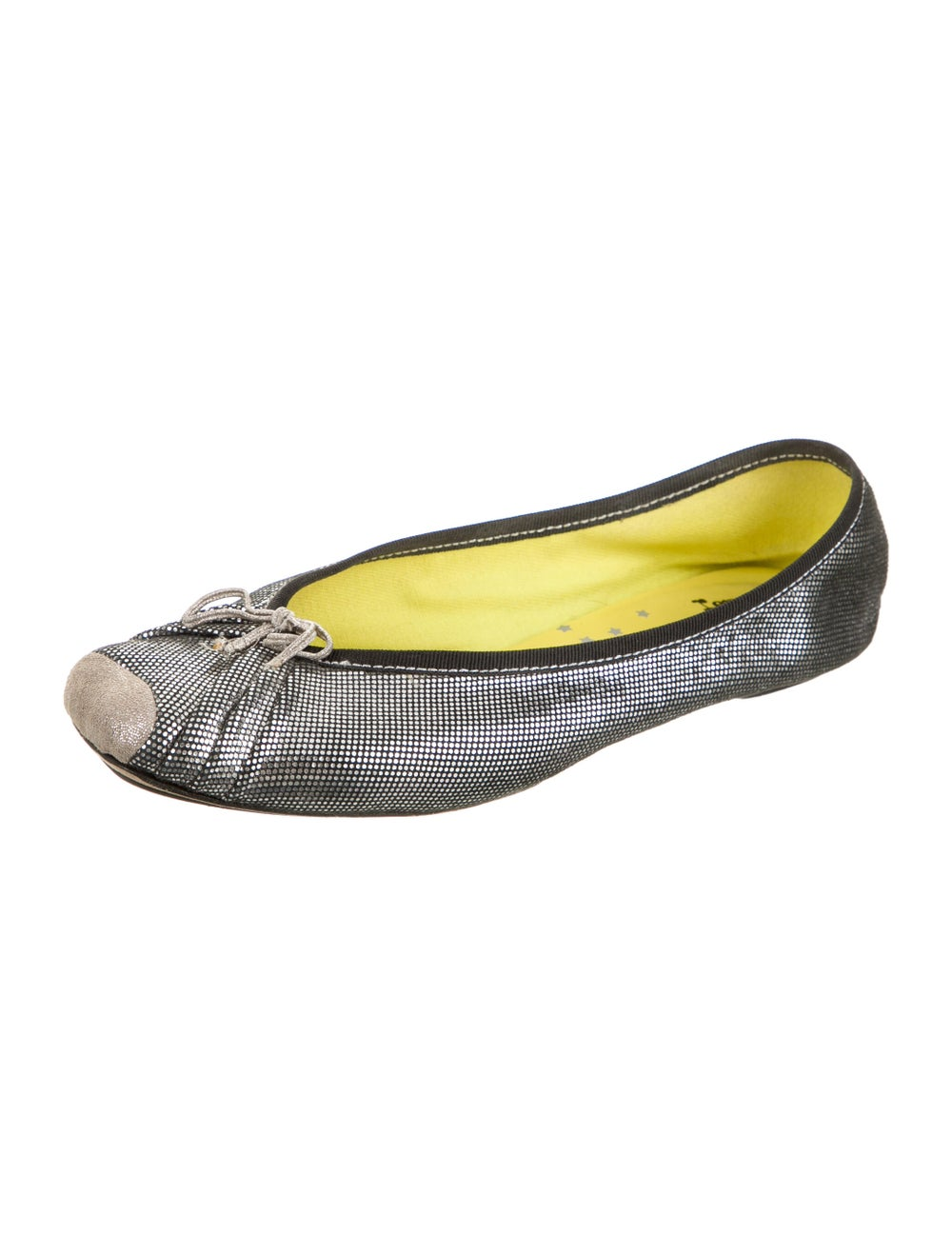 Repetto Leather Ballet Flats Metallic - image 2