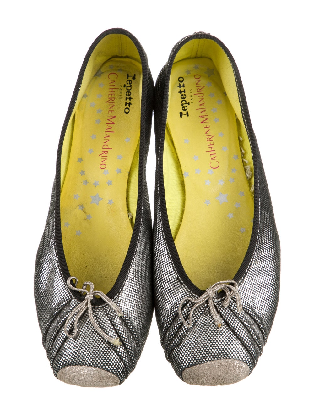 Repetto Leather Ballet Flats Metallic - image 3