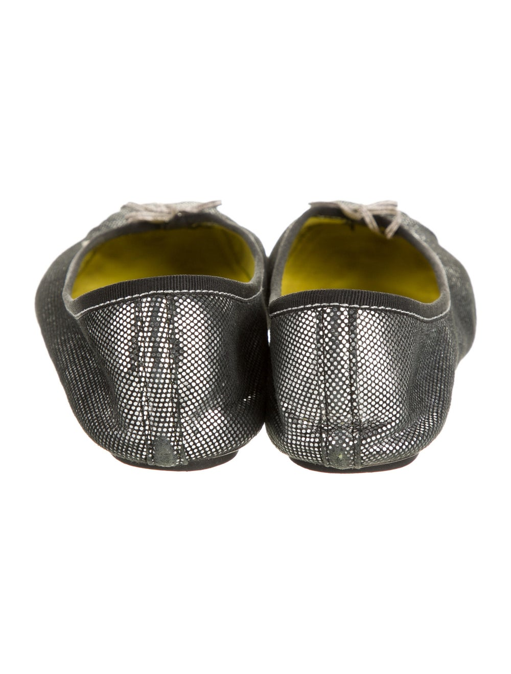 Repetto Leather Ballet Flats Metallic - image 4