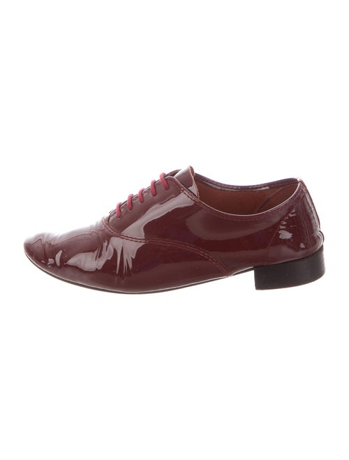 Repetto Patent Leather Oxfords Red