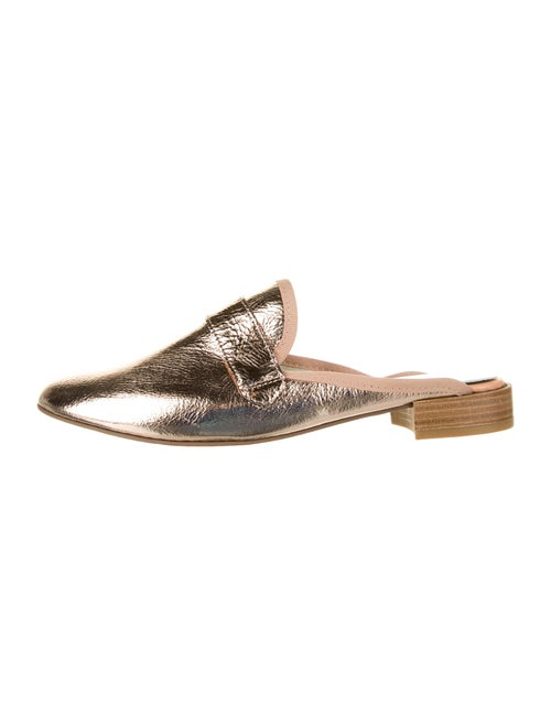 Repetto lOLY Leather Mules Metallic