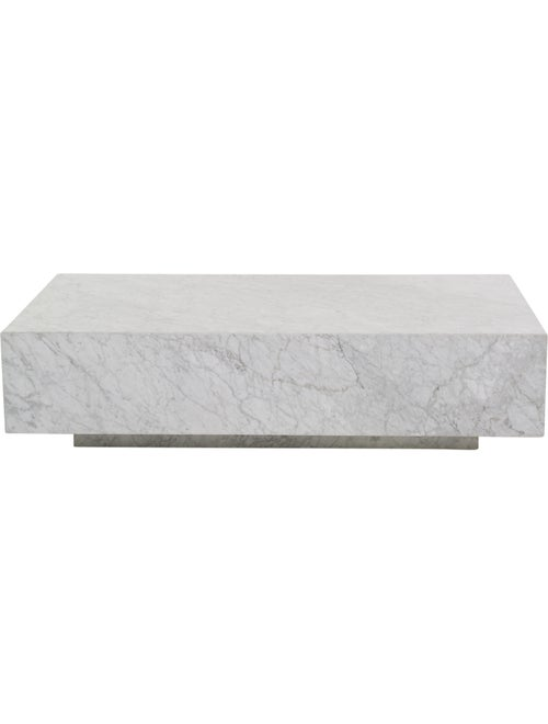 Restoration Hardware Marble Plinth Coffee Table - Furniture - RESTH20600 | The RealReal