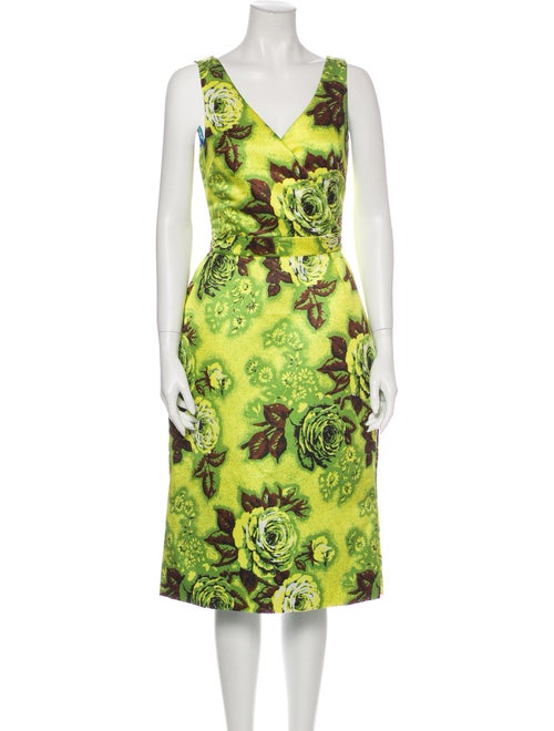Richard Quinn Printed Knee-Length Dress w/ Tags Gr