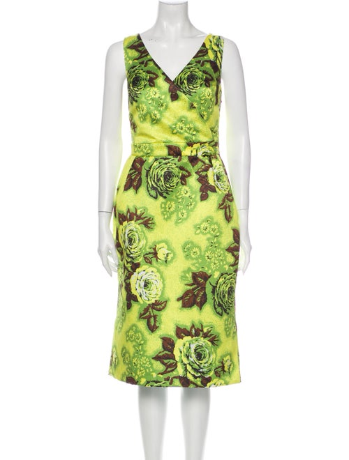 Richard Quinn 2018 Midi Length Dress w/ Tags Green