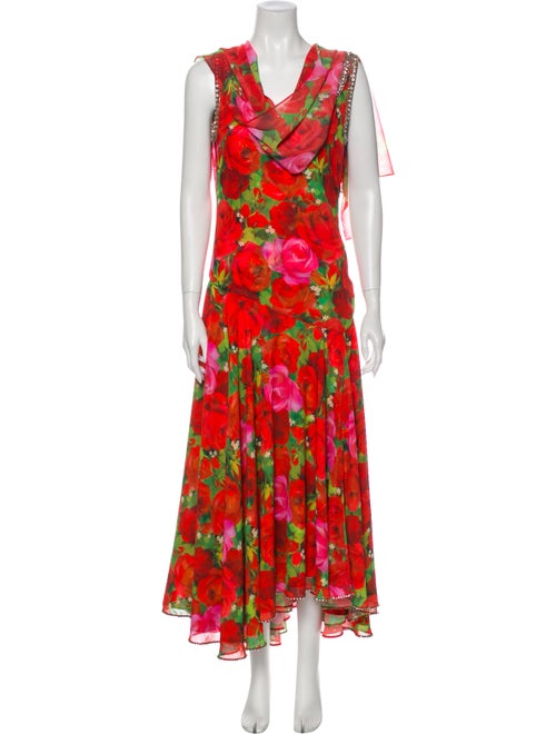 Richard Quinn 2019 Long Dress Red