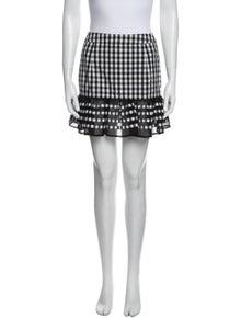 Rahul Mishra Plaid Print Mini Skirt
