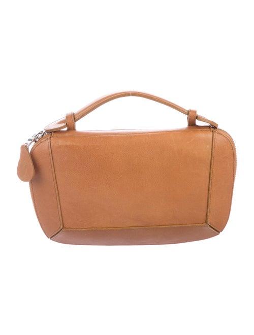 Rhonda Ochs Leather Portfolio Clutch Tan