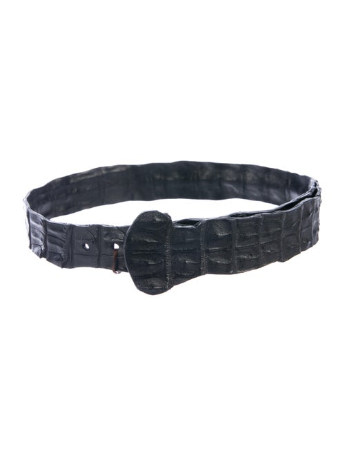 Rhonda Ochs Crocodile Wide Belt Black - image 1