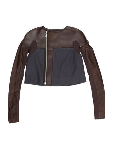 Structured Leather Jacket