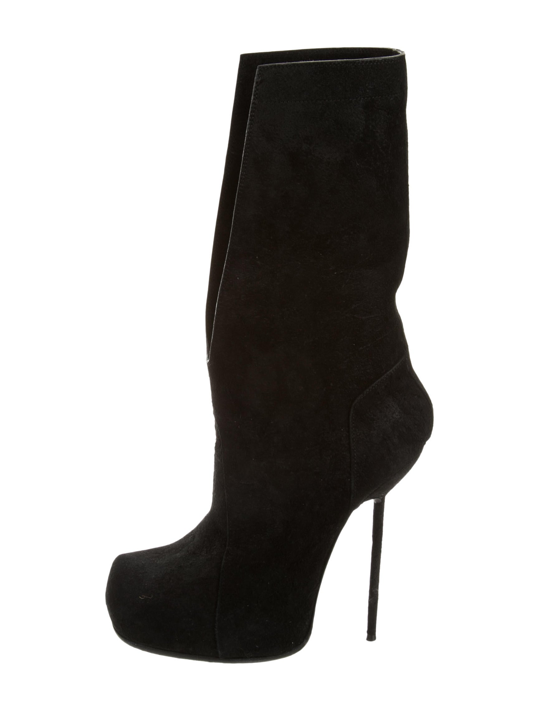 rick owens suede platform boots shoes ric25792 the