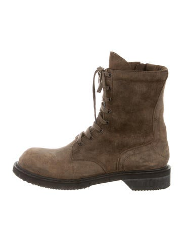 rick owens distressed suede boots shoes ric25802 the