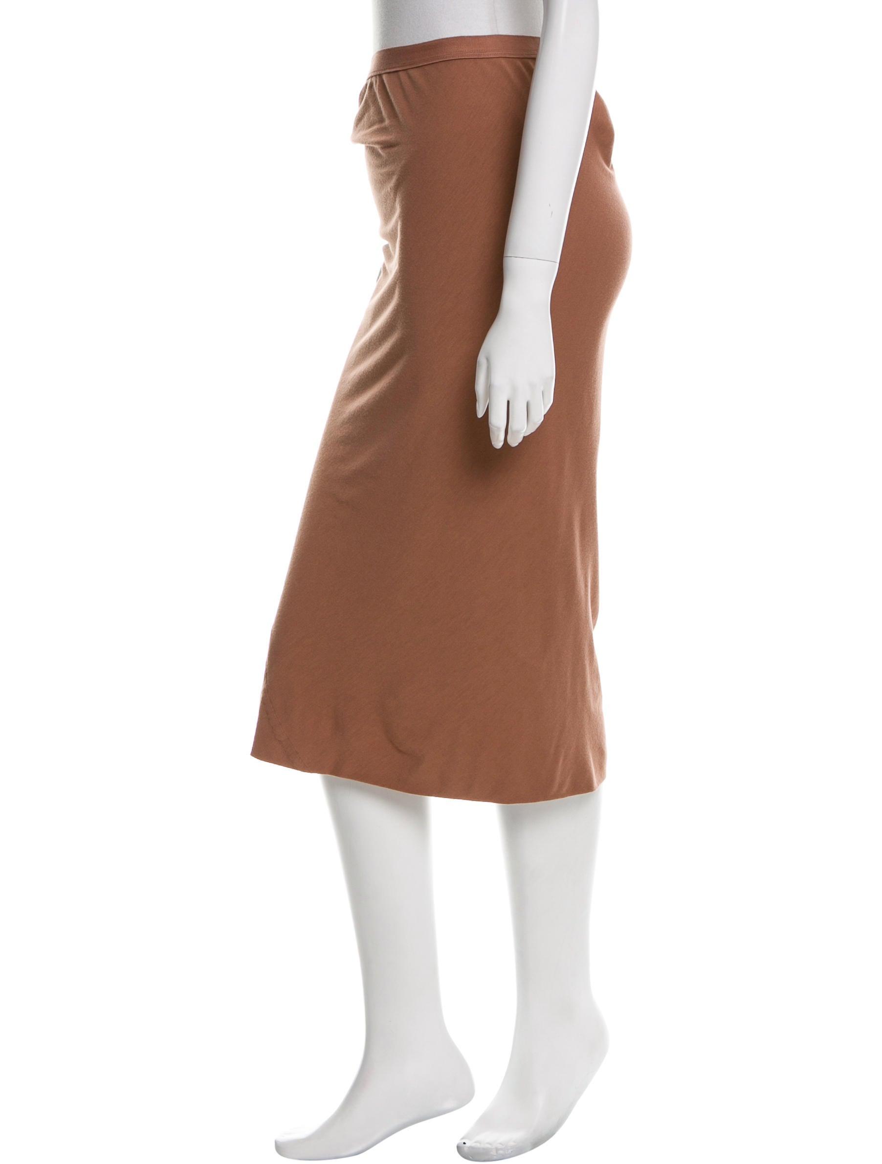 rick owens classic midi skirt clothing ric26088 the