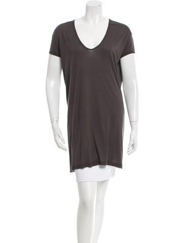 Rick Owens Short Sleeve Knit Tunic None
