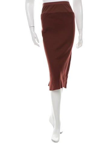 Rick Owens Wool-Blend Midi Skirt None