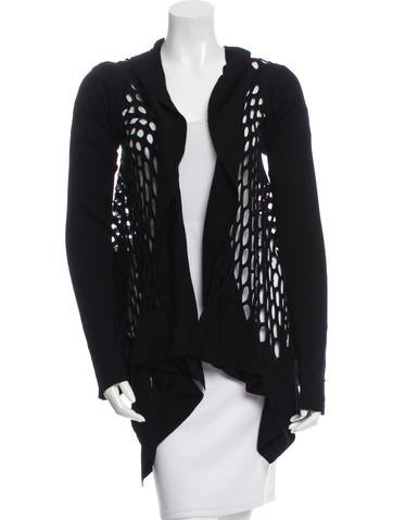 Rick Owens Draped Open Knit Shrug None