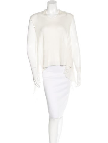 Rick Owens High-Low Knit Top None