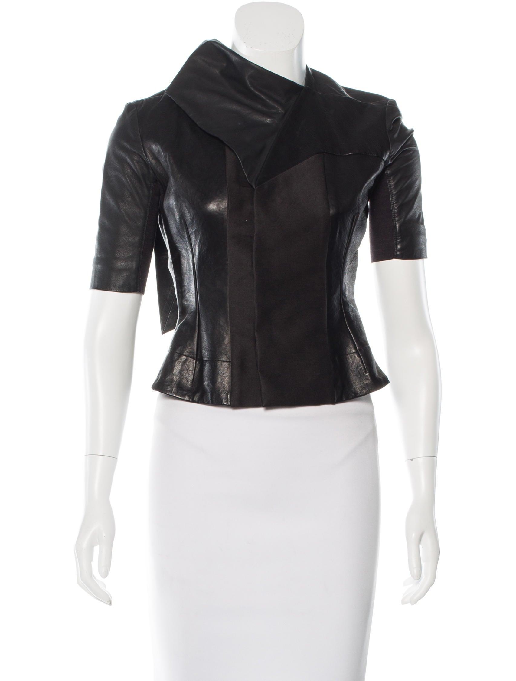 Leather short jackets