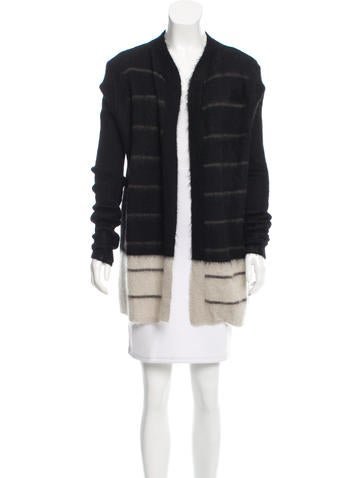 Rick Owens Rib Knit Open Front Cardigan w/ Tags None