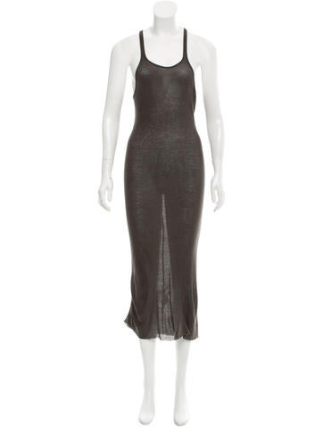 Rick Owens Rib Knit Maxi Dress None