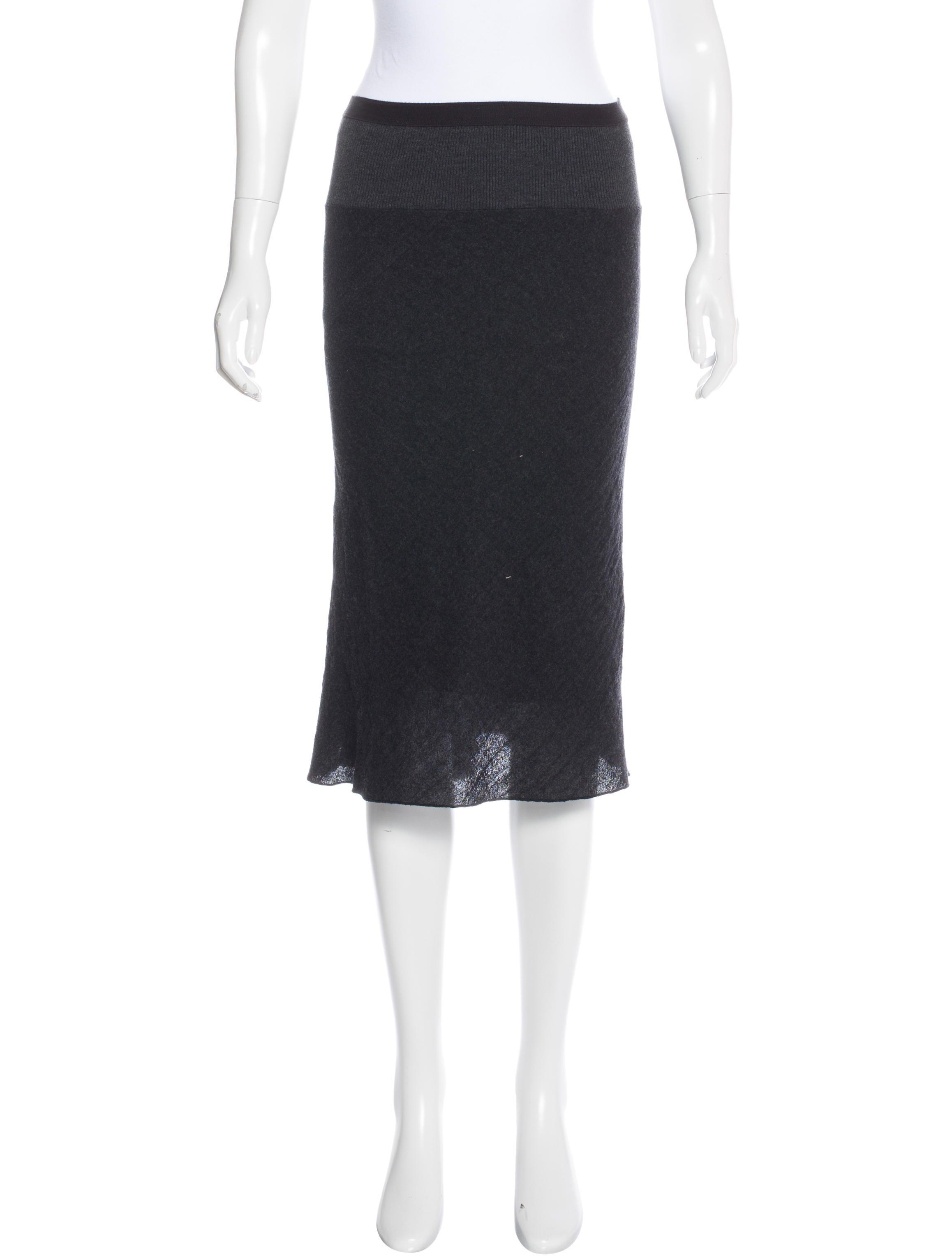 rick owens knit midi skirt clothing ric27845 the