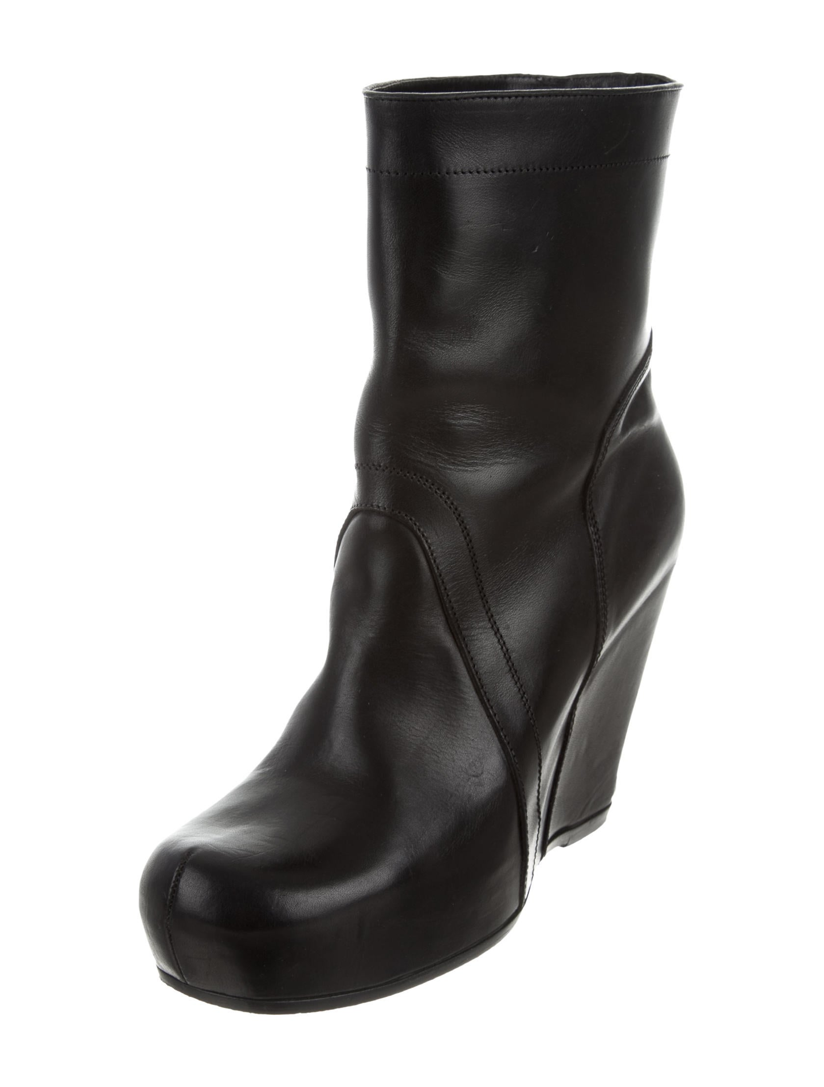 rick owens platform wedge ankle boots shoes ric28774